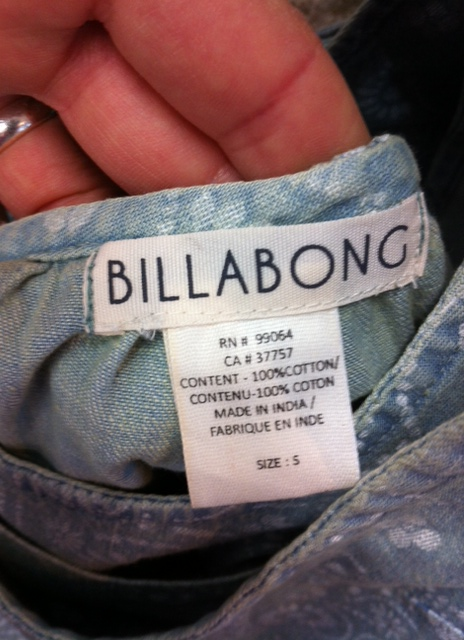 "Billabong ""Made in India"""